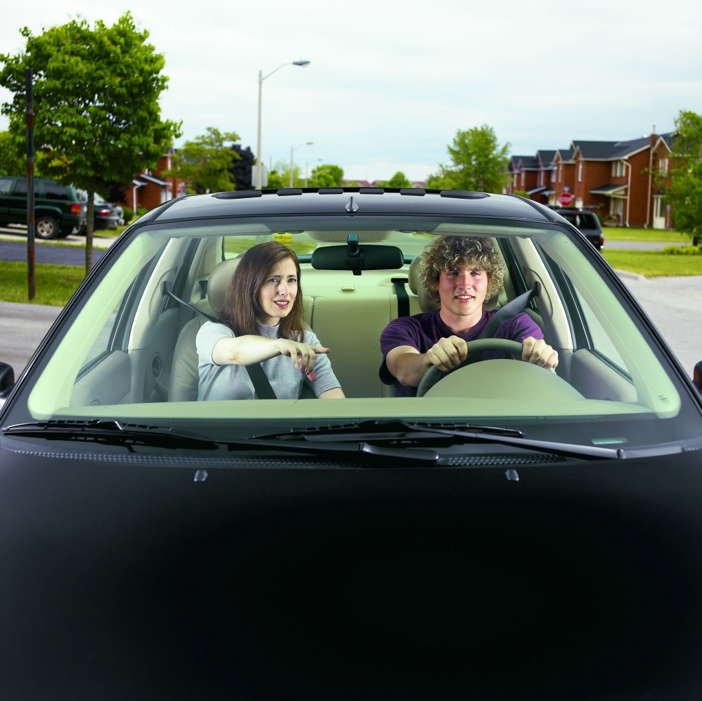 Front Car Passenger Driving Stock