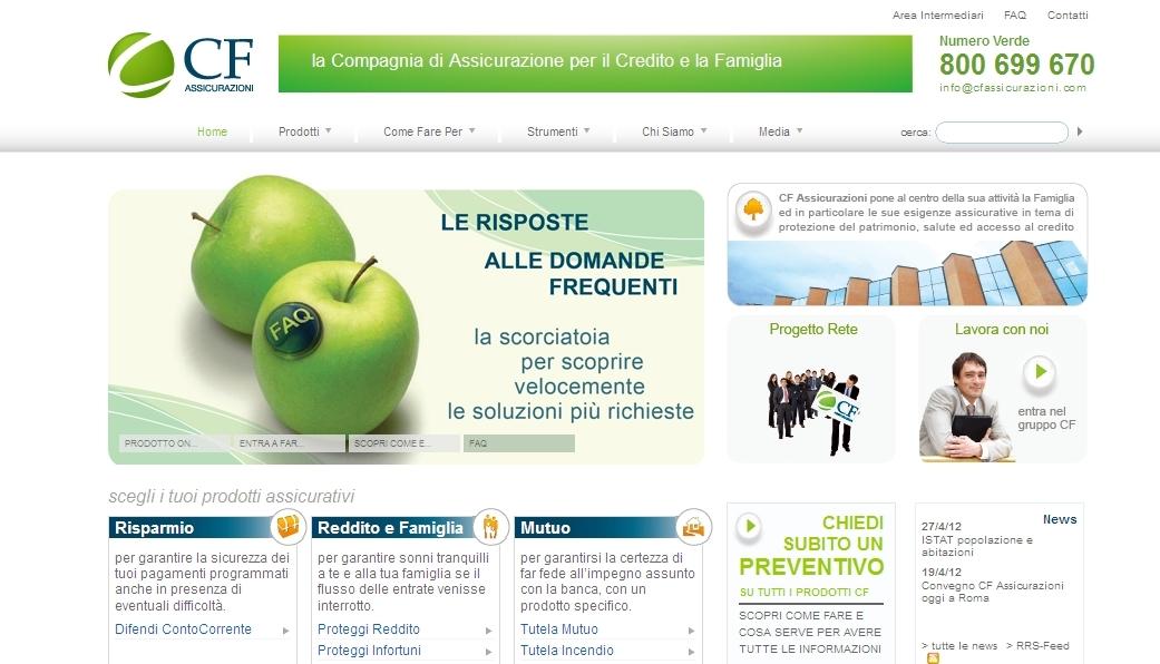 Homepage CF Assicurazioni