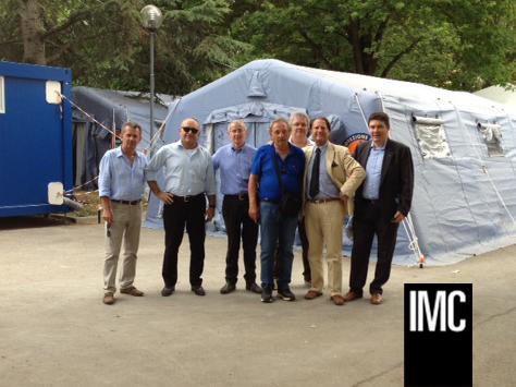 Cirasola visita i colleghi terremotati IMC