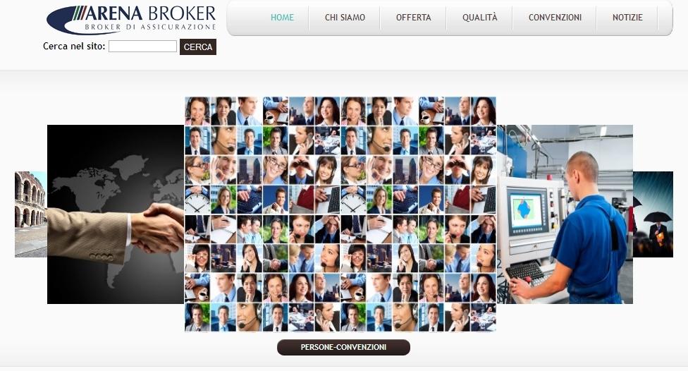 Arena Broker - Homepage Sito Web Imc