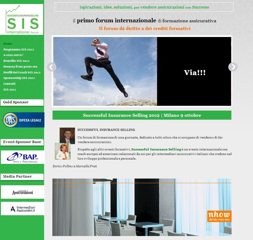 L'home page del sito Successful Insurance Selling