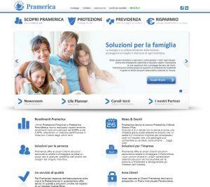 Nuovo sito internet per pramerica life intermedia channel for Piani del sito online
