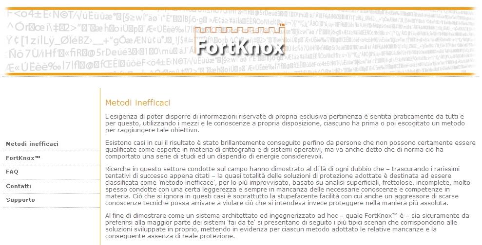 FortKnox - Sito web Imc