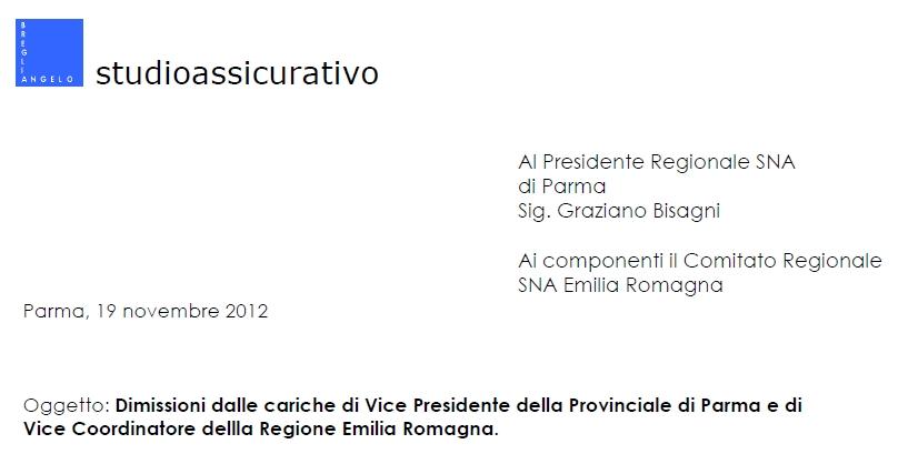 Dimissioni SNA Breglia Imc