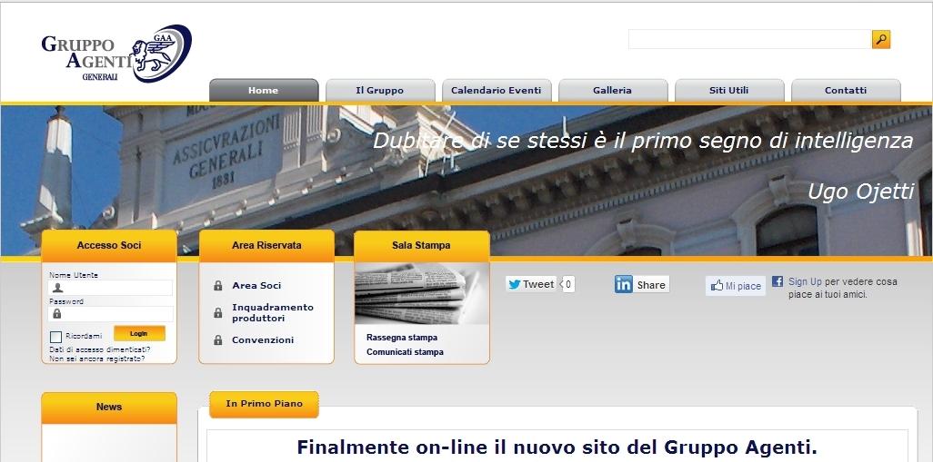 GAA Generali - Homepage sito web Imc