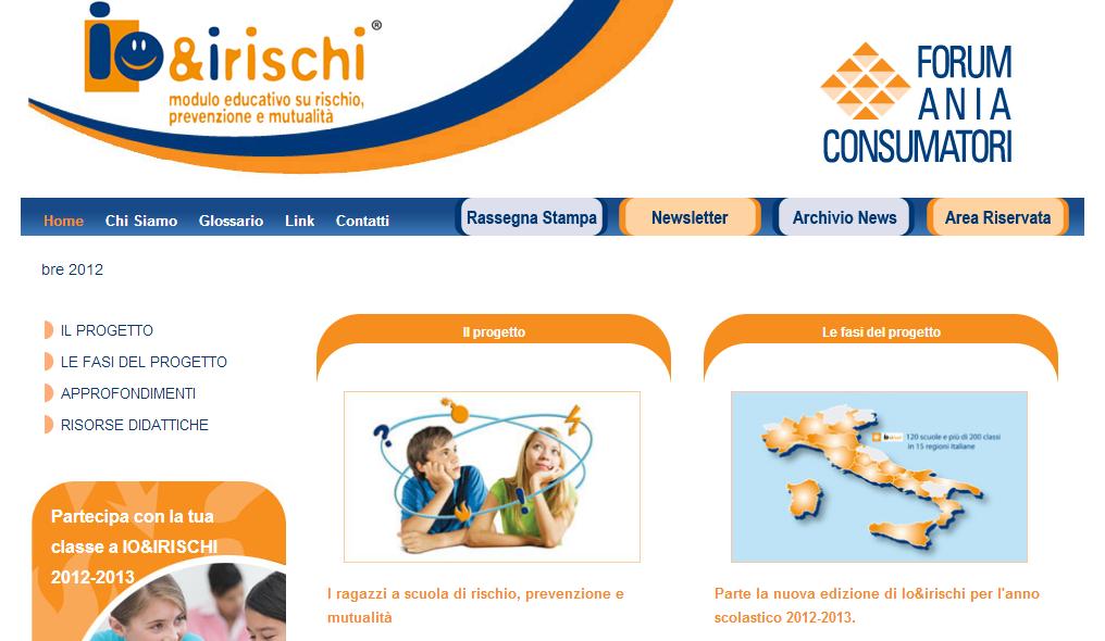 Io e i rischi - Homepage Sito Web Imc
