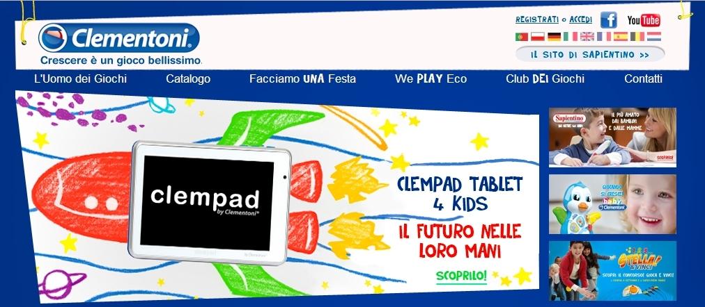 Clementoni - Homepage Sito Web Imc