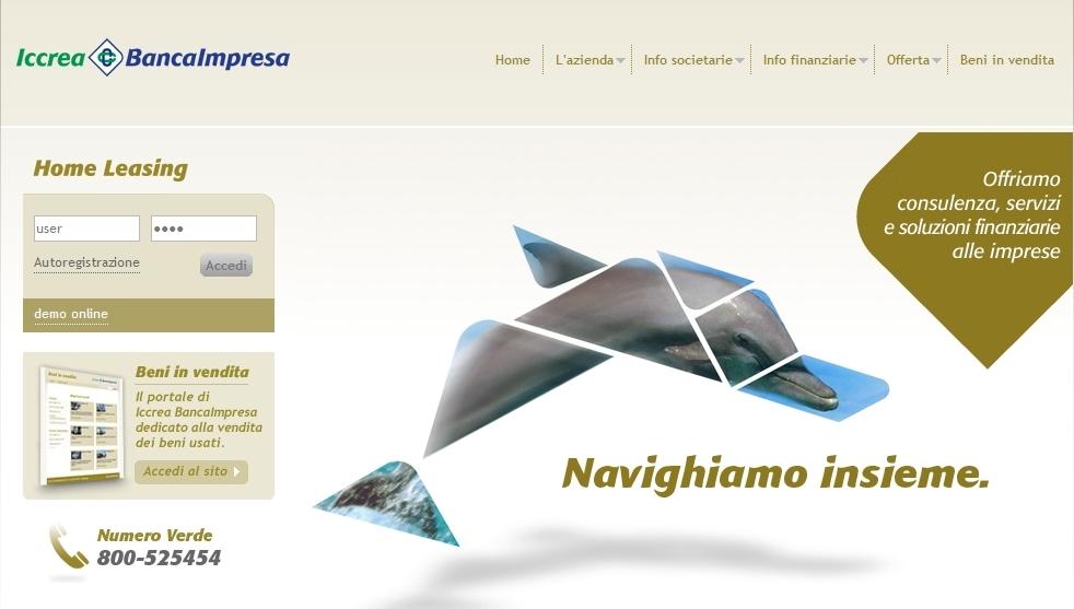 Iccrea BancaImpresa - Homepage sito web Imc