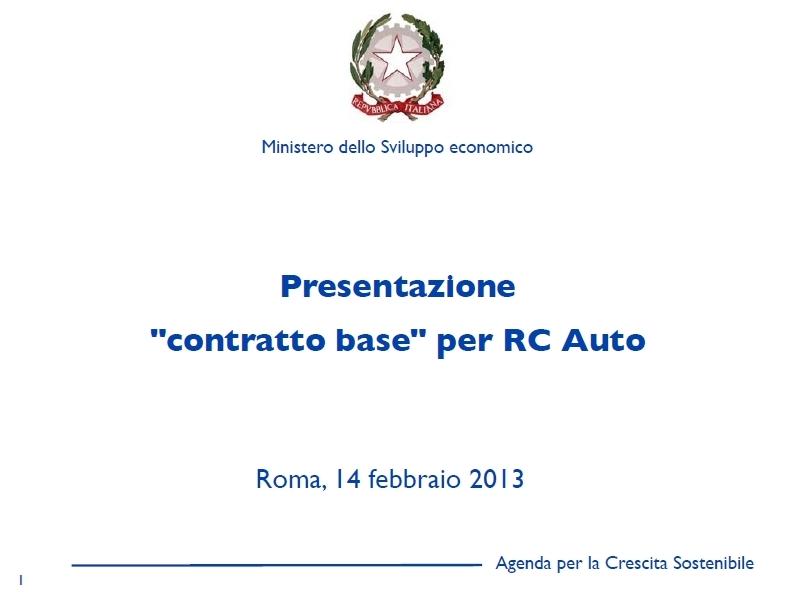 Presentazione Contratto Base RC Auto Imc