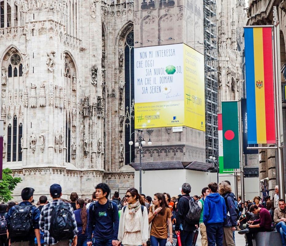 Aviva - Campagna pubblicitaria 2013 - Duomo Milano Imc