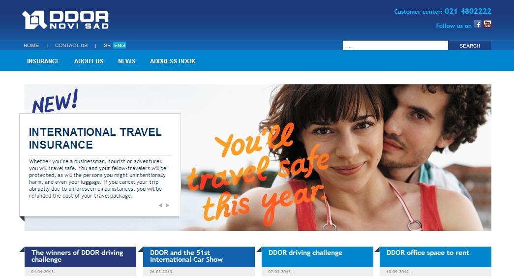 DDOR Novi Sad - Homepage sito web Imc