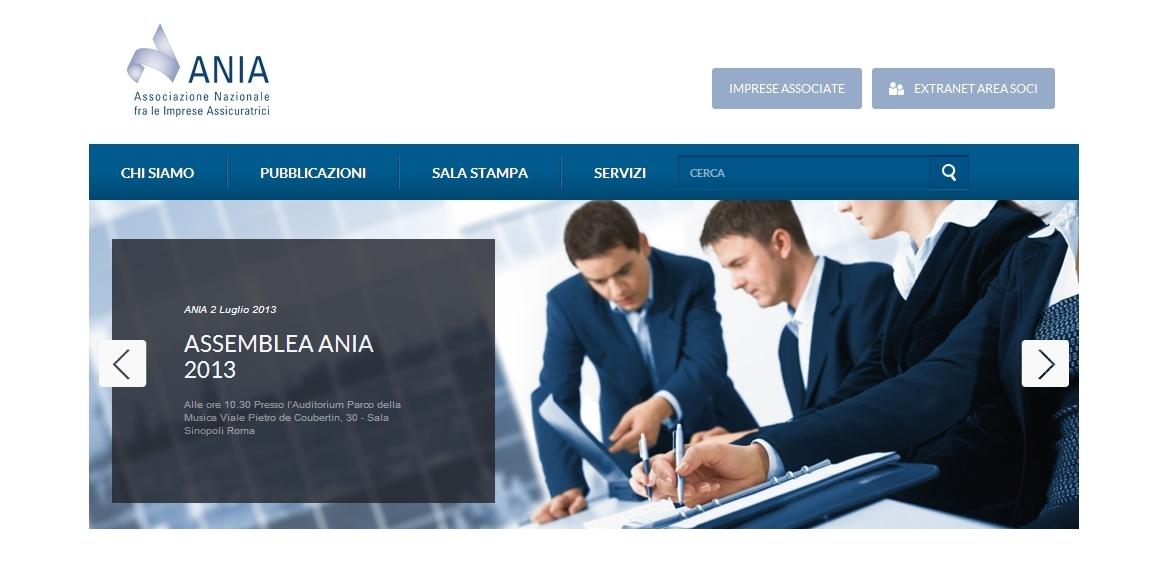 ANIA - Homepage sito web Imc