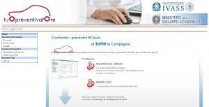 Tuo Preventivatore IVASS - Homepage sito web Imc