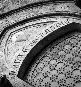 Banca MPS - Particolare facciata sede Siena Imc