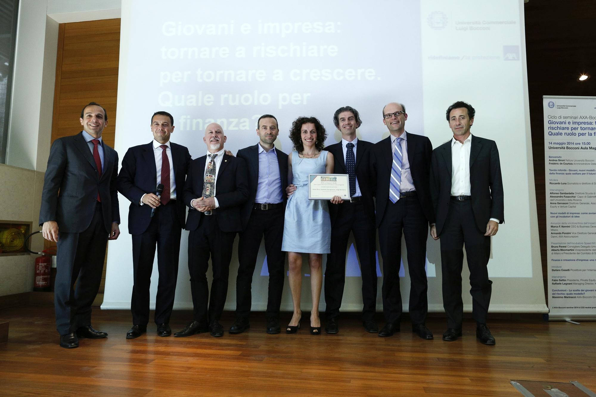 Fellowship for Longer Lives - Premiazione Team U-Life (Foto Ansa - Guido Montani) Imc