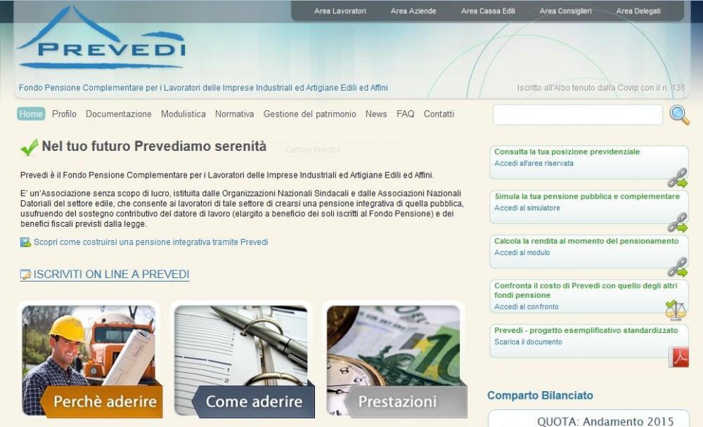Prevedi - Homepage sito web Imc