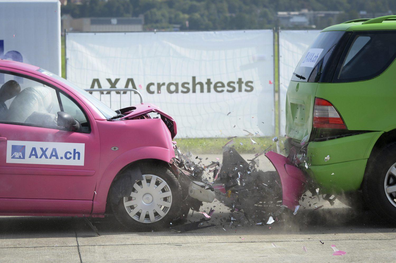 AXA Winterthur Crashtests 2017 (Foto Melanie Duchene / EQ Images / AXA Winterthur) Imc
