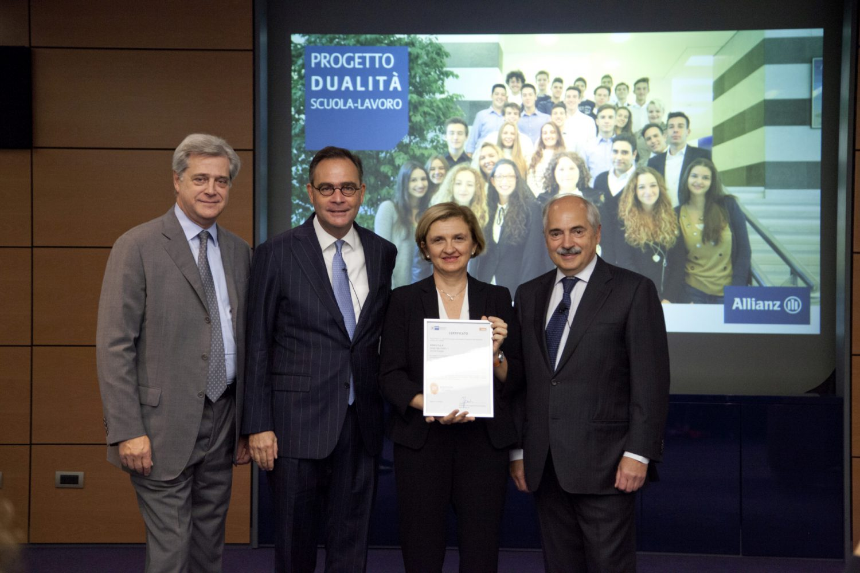 Allianz Italia - Progetto Dualità Scuola Lavoro 2017 - Consegna certificazione Dual.Project Imc