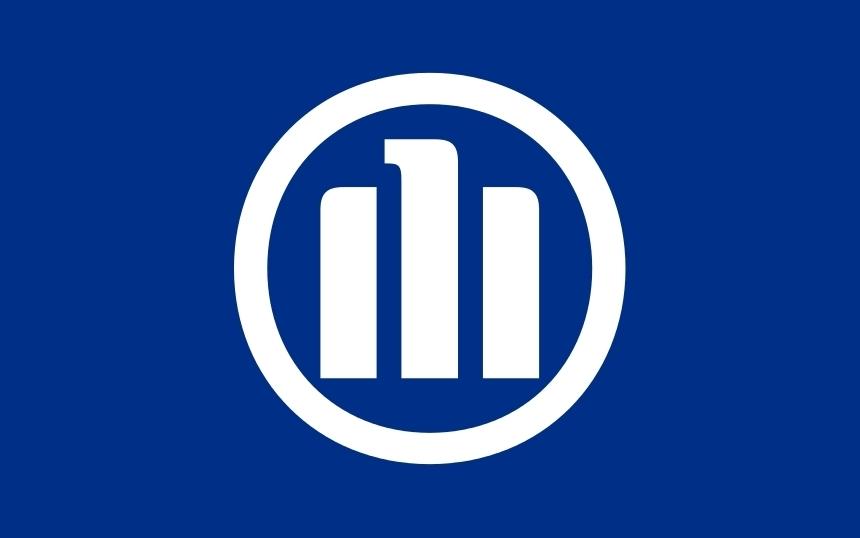 Allianz - Solo Logo - Sfondo blu