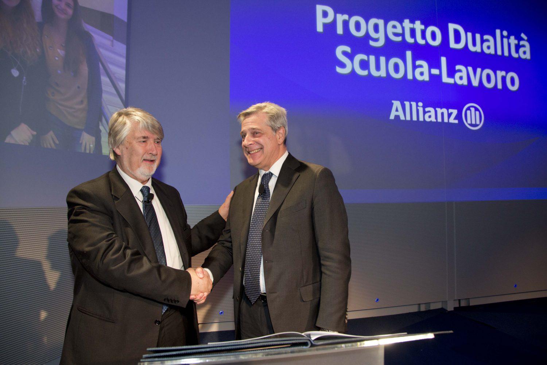 Allianz Italia - Incontro Progetto Dualità - Giuliano Poletti e Maurizio Devescovi - Firma protocollo Imc