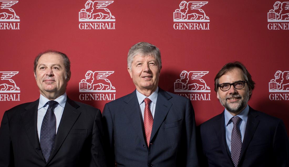 Generali - Assemblea Azionisti 2017 - Donnet, Galateri e Lubelli (Foto Giuliano Koren) Imc