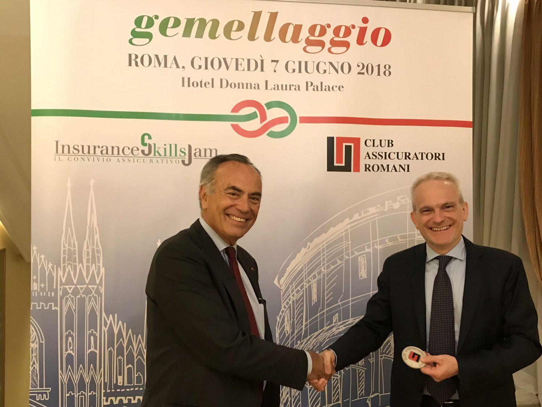 Gemellaggio Isjam - Club assicuratori romani - Fiorentini e Bertalot Imc