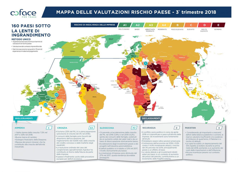 Coface - Mappa rischio paese - III Trimestre 2018 Imc