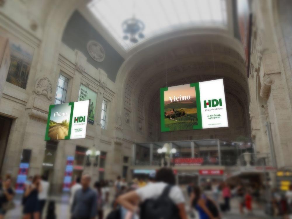 HDI Assicurazioni - Campagna comunicazione - Rendering Milano centrale Imc